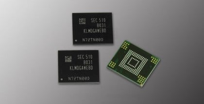 Samsung 128GB flash storage 3-bit NAND eMMC 5.0