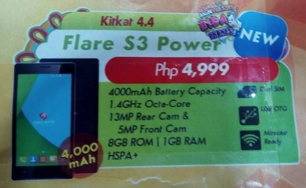 Cherry Mobile Flare S3 Power
