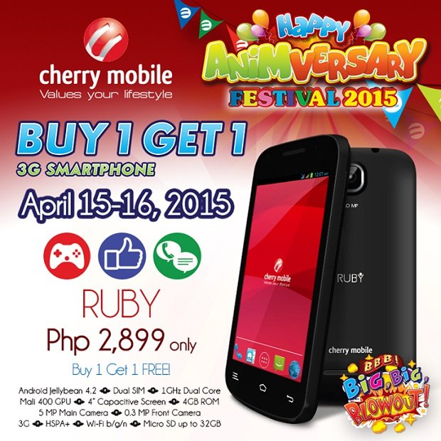 Cherry Mobile Ruby buy one get one full