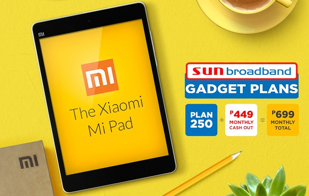 Xiaomi Mi Pad for as low as Php699 monthly total