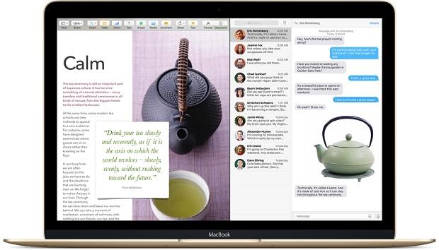 Mac OS X El Capitan Split View