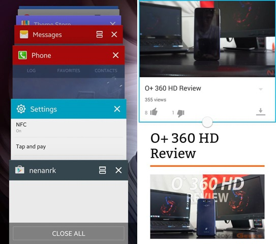 Multiwindow - Galaxy S6 Edge Review