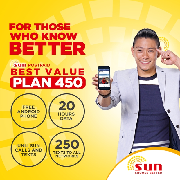 Sun beats globe with their new postpaid plans and prepaid for Sun mobile plan