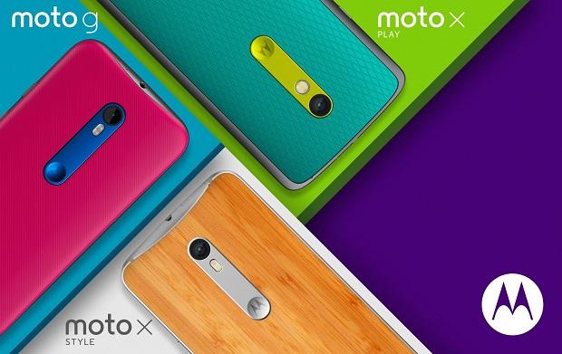 Motorola Moto 2015 smartphones