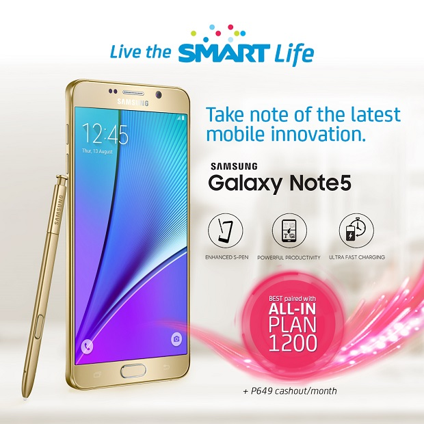 Samsung Galaxy Note 5 from Smart