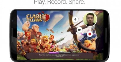 Google Play Games app video game recording