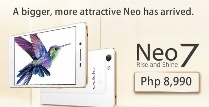 Oppo Neo 7 Philippines official price
