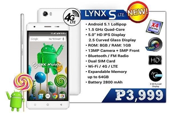 SKK Mobile Lynx S LTE