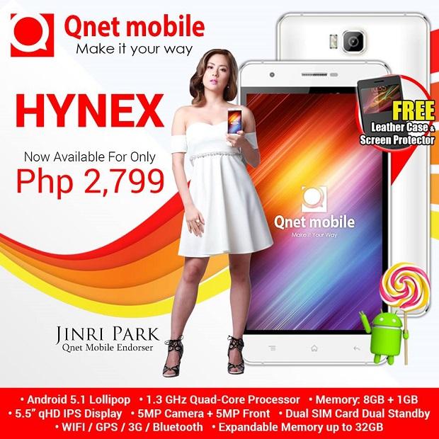Qnet Mobile Hynex: Android 5.1 Lollipop, quad-core CPU, 5 ...