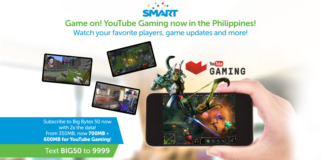 Youtube Gaming - Smart - Philippines
