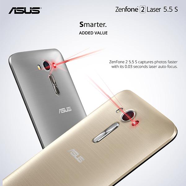 ASUS Zenfone 2 Laser 55 S 55 Inch HD Display
