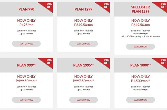 Pldt Home Dsl 50 Off On All Plans Save As Much As Php1