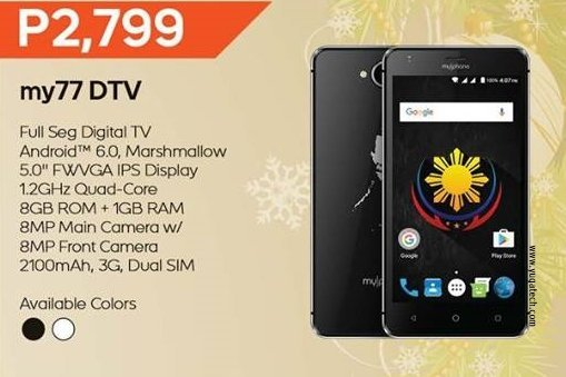 Myphone My72 Dtv Announced Comes With 5 Inch Screen And Full Seg Dtv
