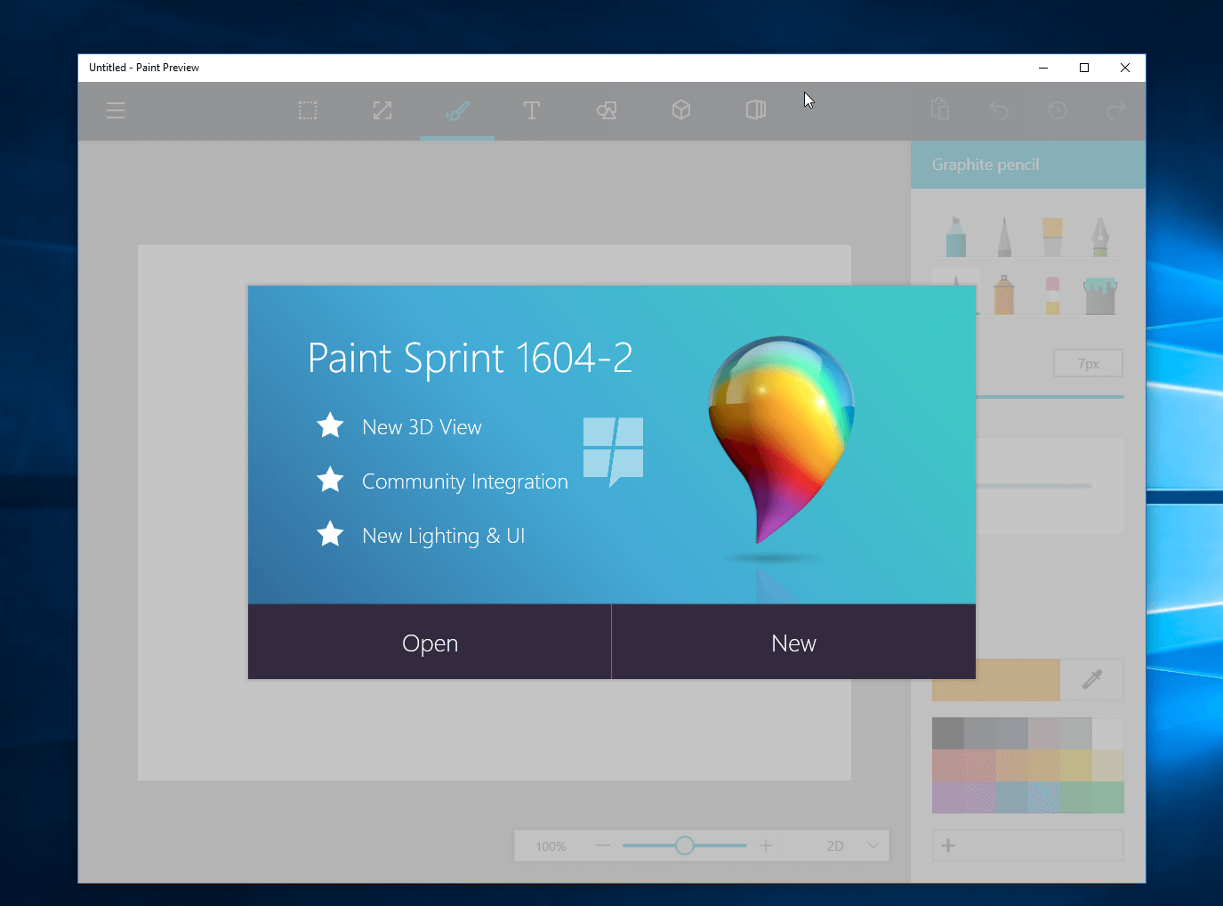 Microsoft 39 s redesigned paint app for windows 10 revealed for App to paint on pictures