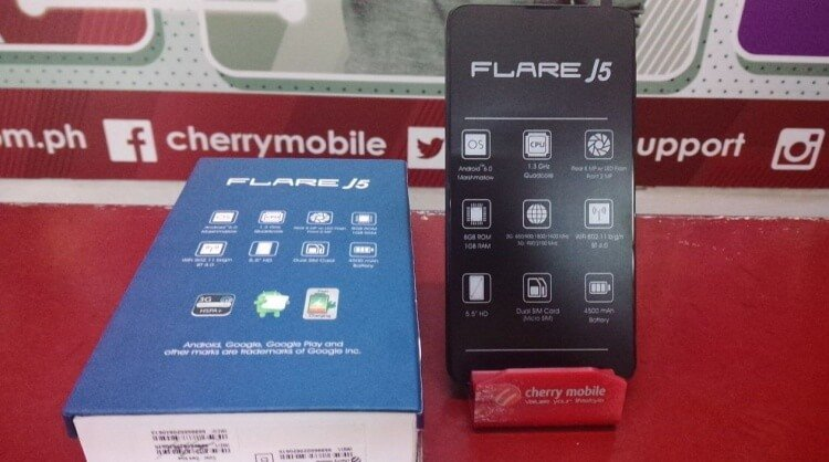 Cherry mobile flare j5 with 4500mah battery now available for php3 699