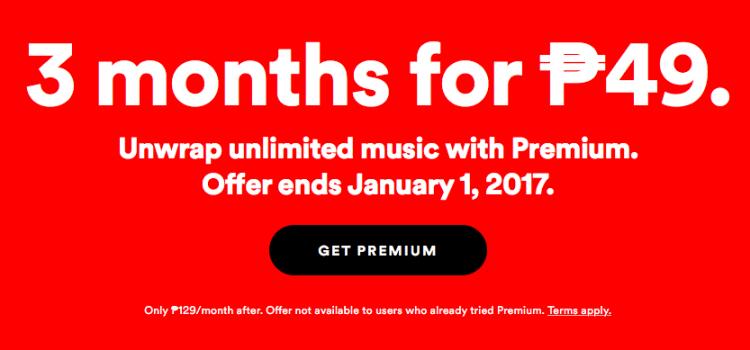 Spotify Premium Php49