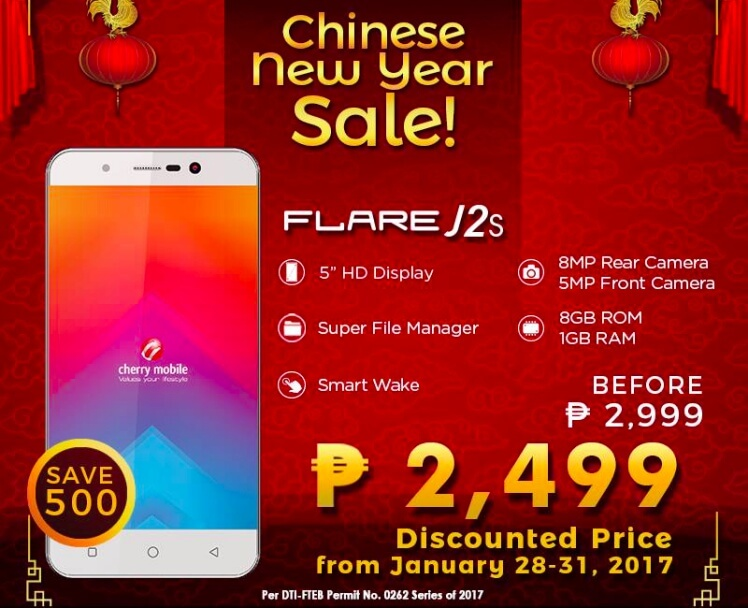 Deal Alert Cherry Mobile Flare J2s Only Php2 499 From