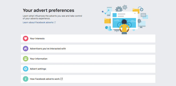 Facebook advertisement preferences - NoypiGeeks