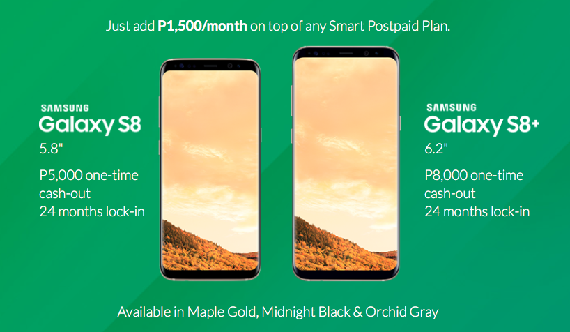 Samsung Galaxy S8 and S8+ Smart Postpaid Plans - NoypiGeeks