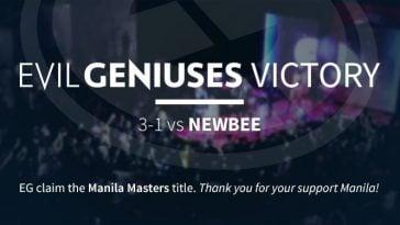 Evil Geniuses Manila Masters 2017 Champions