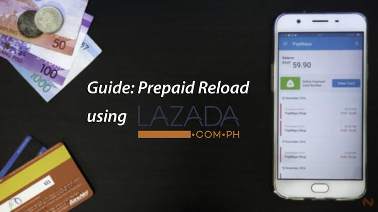 Reload Prepaid SIM via Lazada - NoypiGeeks
