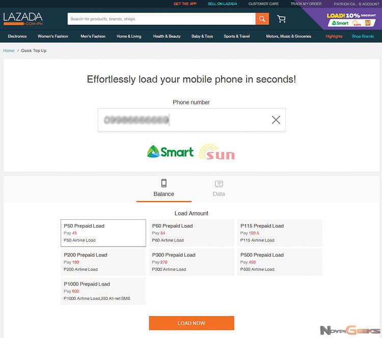 Lazada Cellphone Smartphone Load -5