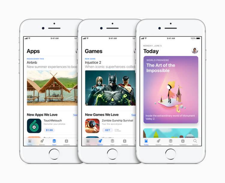 Apple iOS 11 App Store makeover