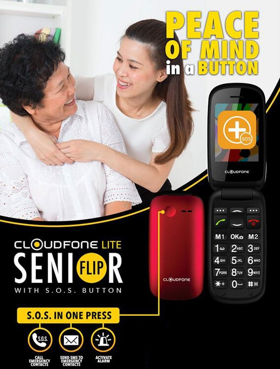 Cloudfone Senior Flip - Price, Features