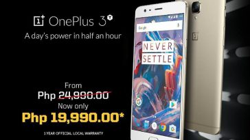 Deal Alert: OnePlus 3T gets Php5,000 off from its original price