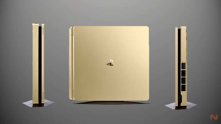 Playstation 4 Gold and Silver