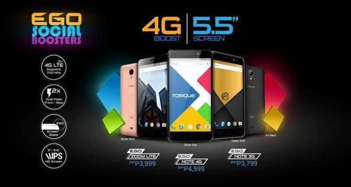 Torque Ego smartphones 2017