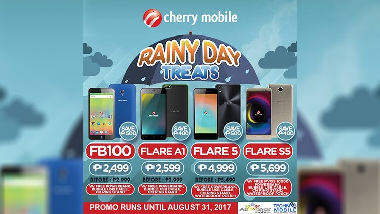 Cherry Mobile Rainy Day treats promo