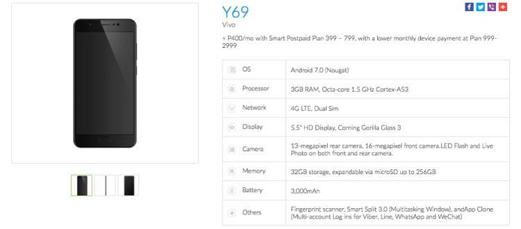 Vivo-Y69-Smart-Postpaid-Plan