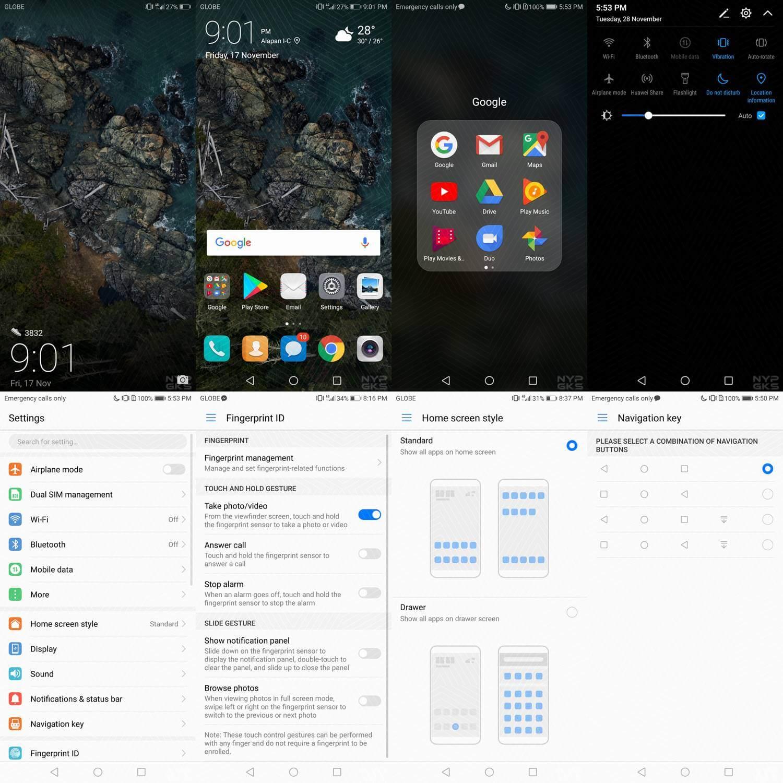 Huawei Nova 2i Software, Android Nougat, EMUI