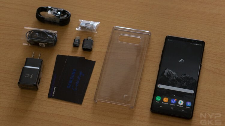 Galaxy Note 8 package contents