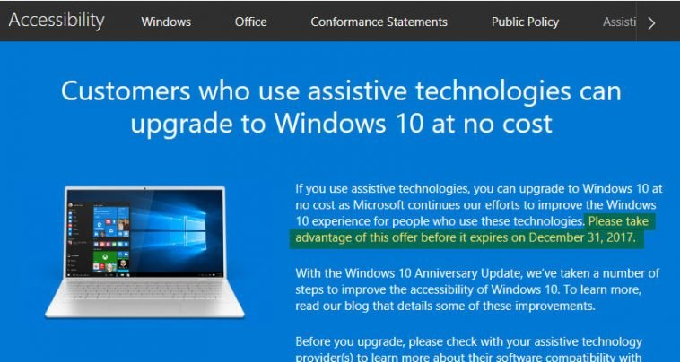 windows-10-assistive-tech-offer