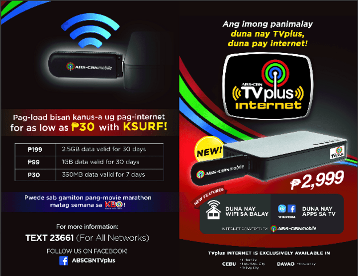 ABS CBN TvPlus Internet Smart TV