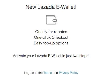 Lazada E-Wallet Activate