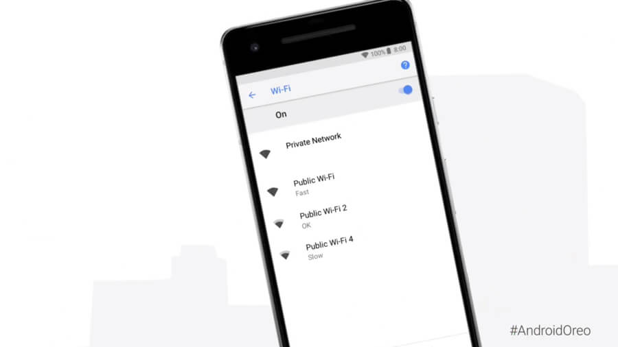 Android 8.1 update displays the network speed of public WiFi networks