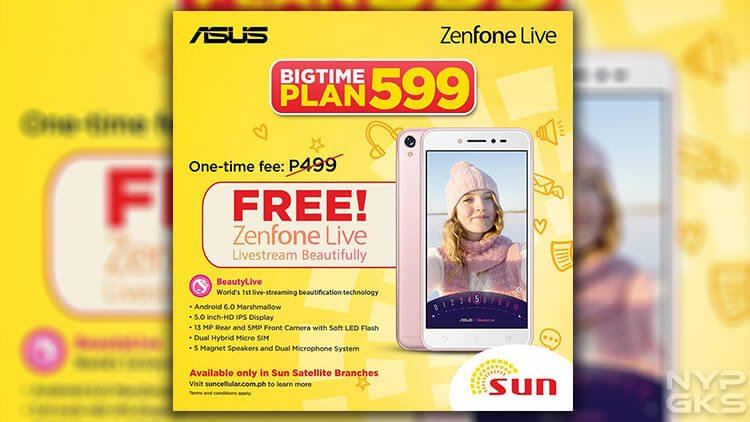 Get the asus zenfone live thru sun postpaid 39 s bigtime plan for Sun mobile plan