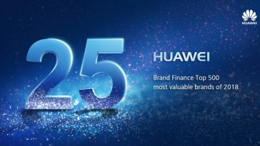 Huawei jumps to the 25th spot in the Brand Finance Global 500 list for 2018