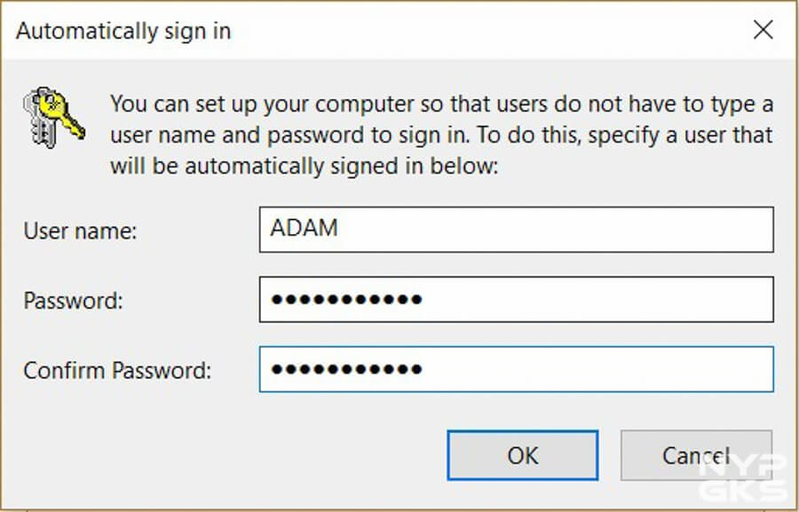 no password for windows 10 login