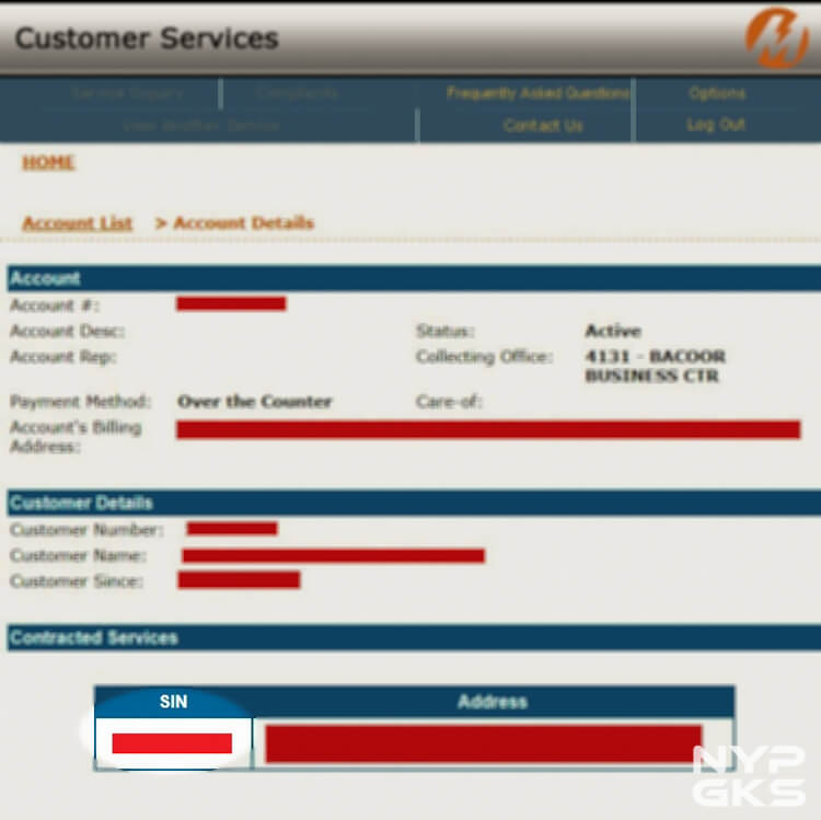 Download electric bills MERALCO from internet