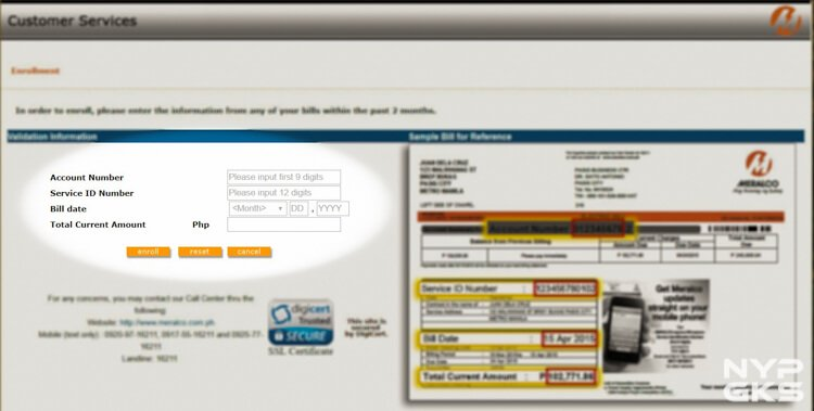 How to view MERALCO bills online