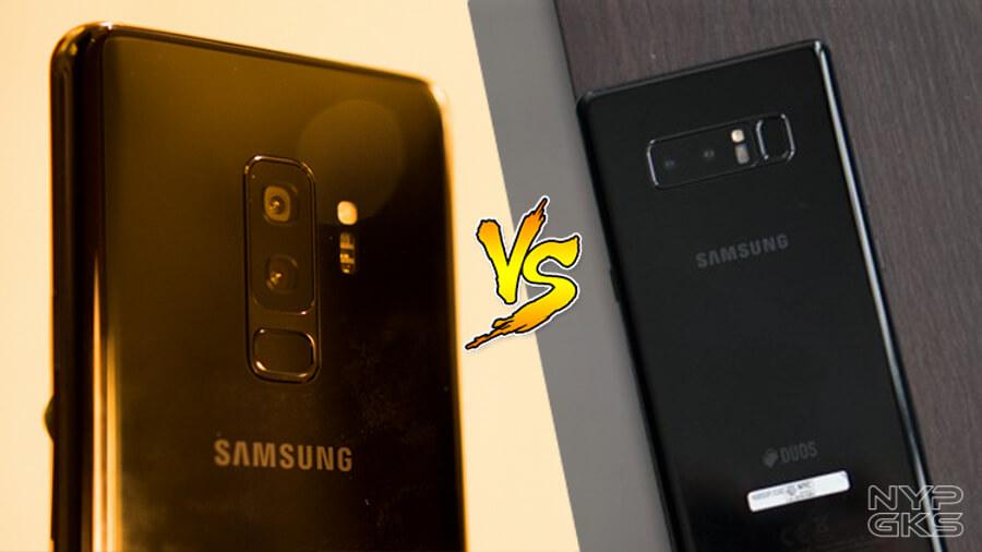 samsung galaxy s9 plus vs Note 8