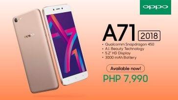 OPPO A71 2018 Philippines, Price, Specs