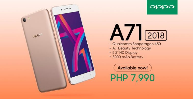 f76e4f4af OPPO A71 (2018) now available in the Philippines