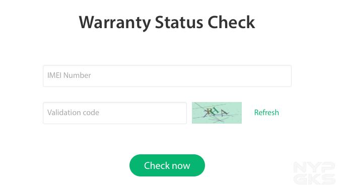 OPPO-Warranty-Stauts-Check