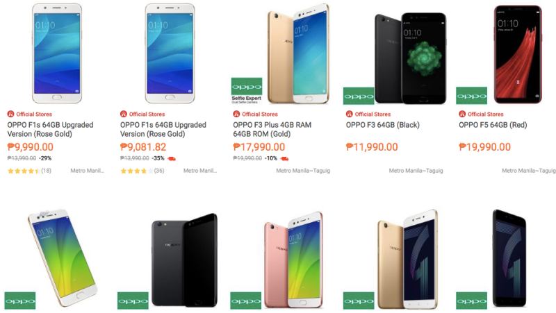 OPPO puts up official store in Lazada | NoypiGeeks