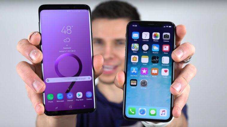 Samsung Galaxy S9 vs iPhone X Drop Test Video